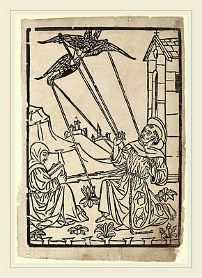 Italian 15th Century, Saint Francis Receiving The Stigmata Poster by Litz Collection