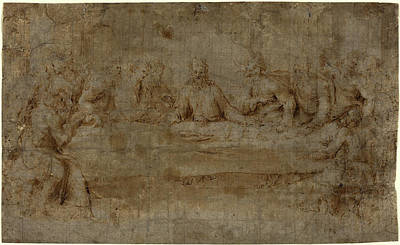 Italian 16th Century, The Last Supper, Mid 16th Century Poster by Litz Collection