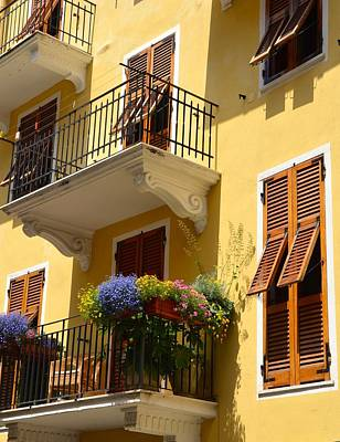 Italian Balconies Poster by Corinne Rhode