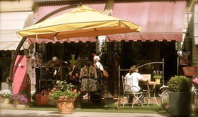 Italian Cafe Street Scene Poster
