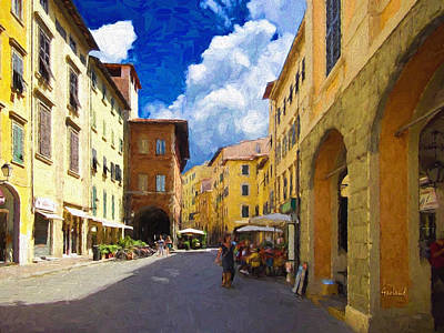 Italian City Center Poster
