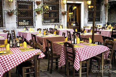 Italian Dining In Venice Poster