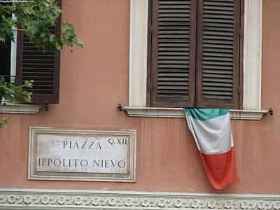 Italian Flag Poster