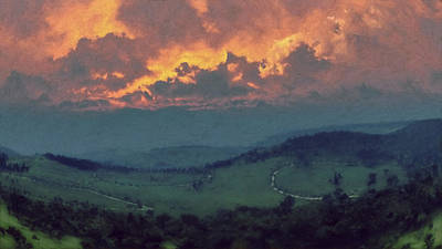 Italian Hills Sunset Poster by Lonnie Christopher