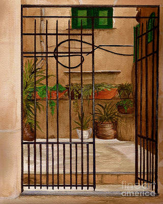 Italian Iron Gate Poster by Nan Wright