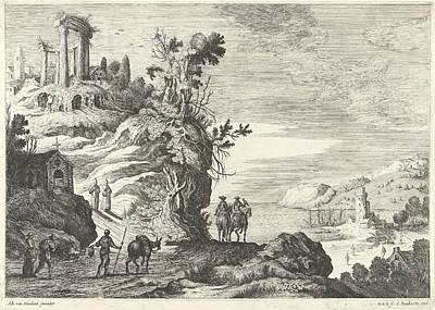 Italian Landscape With A Ruin, Willem Van De Lande Poster