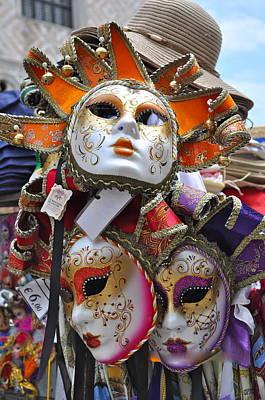 Italian Masks Poster