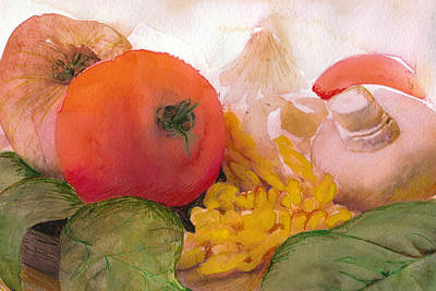 Italian Meal Still Life Poster by Susan Powell