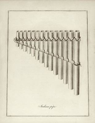 Italian Musical Pipes Poster by Middle Temple Library
