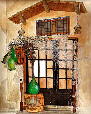 Poster featuring the painting Italian Restaurant  by Nan Wright