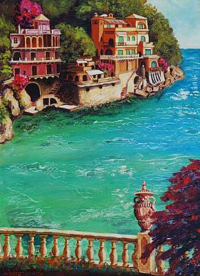 Italian Riviera Poster by Santo De Vita