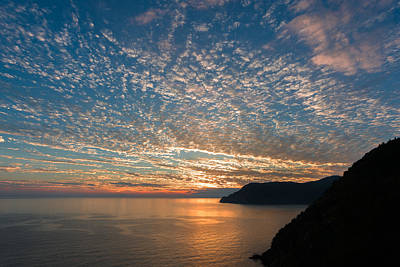Poster featuring the photograph Italian Riviera Sunset by Carl Amoth