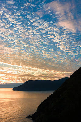 Poster featuring the photograph Italian Riviera Sunset - II by Carl Amoth