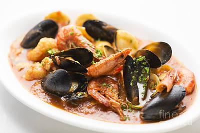Italian Seafood Stew Poster by Jacek Malipan