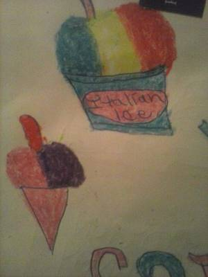 Italian Shaved Ice Poster by Shante