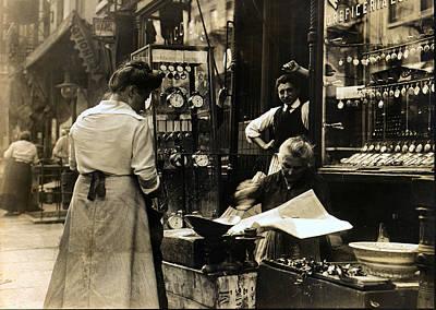 Italian Shop On Mott Street Ny Poster