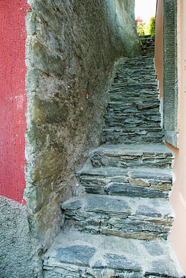 Italy A Narrow Stone Walkway Poster by Jaynes Gallery