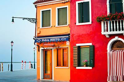 Italy Burano Fish Shop Poster