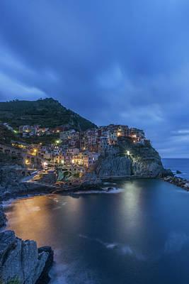 Italy, Cinque Terre, Manarola At Dawn Poster by Rob Tilley