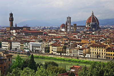 Italy, Florence View Of City As Seen Poster