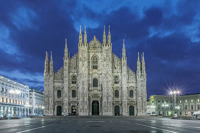 Italy, Milan, Cathedral (duomo Di Milano Poster by Rob Tilley