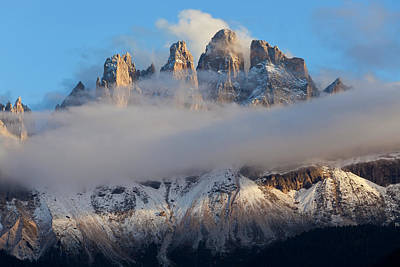 Italy, Near Bolzano, Val Di Funes Poster by Peter Adams