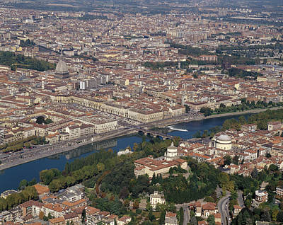 Italy, Piedmont, Turin, View Of The Poster by Tips Images
