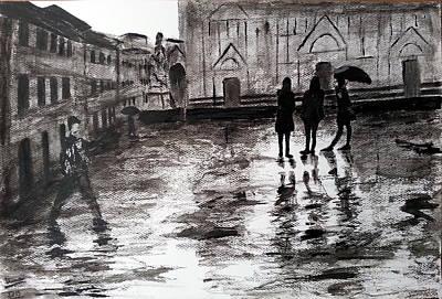 Italy Series 14 Poster by Uma Krishnamoorthy