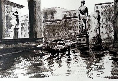 Italy Series 8 Poster by Uma Krishnamoorthy