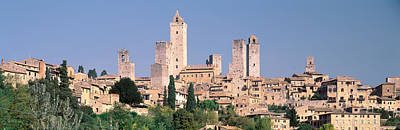 Italy, Tuscany, Towers Of San Poster
