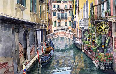 Italy Venice Trattoria Sempione Poster