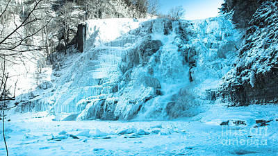 Ithaca Falls In Winter Poster