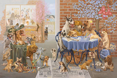 It's A Dog's World Poster by Victor Powell