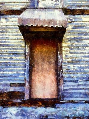 It's Been So Long - Abandoned Farm House Door Poster by Janine Riley