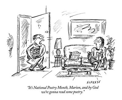 It's National Poetry Month Poster by David Sipress