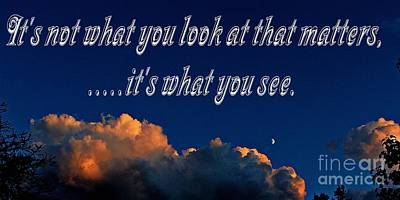 Its Not What You Look At Poster