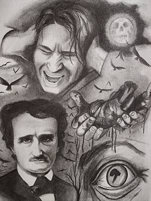 It's The Beating Of That Hideous Heart-edgar Allan Poe Poster by Amber Stanford