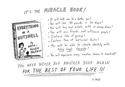 It's The Miracle Book! Poster by Roz Chast