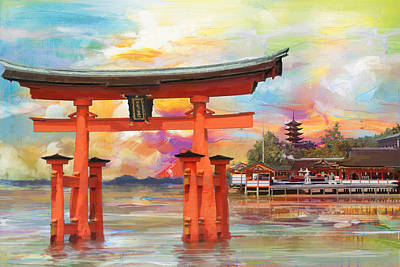 Itsukushima Shrine Poster by Catf