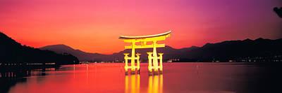 Itsukushima Shrine Otorii Hiroshima Poster by Panoramic Images