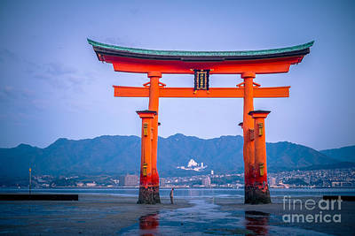 Itsukushima Shrine Poster by Sabino Parente