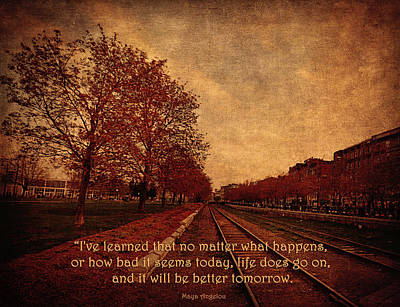 I've Learned - It Will Be Better Tomorrow  Poster by Maria Angelica Maira