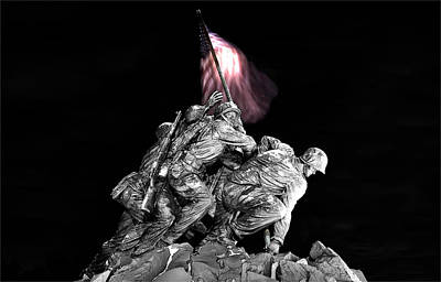 Poster featuring the photograph Iwo Jima Memorial by Michael Donahue