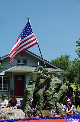 Iwo Jima Replica, Float, July 4th Poster by Michel Hersen