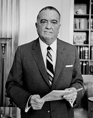 J Edgar Hoover - Director Of The Fbi 1961  Poster by Mountain Dreams