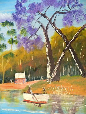 Poster featuring the painting Jacaranda Tree by Pamela  Meredith