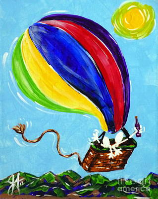 Poster featuring the painting Jack And Charlie Fly Away by Jackie Carpenter