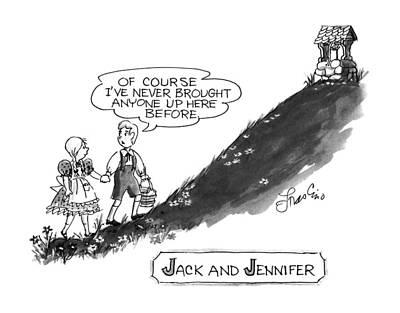 Jack And Jennifer Poster by Edward Frascino