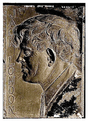 Jack London Bas Relief No Known Date-2013 Poster by David Lee Guss