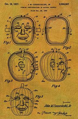 Jack O Lantern Patent Poster by Dan Sproul